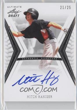 2012 Leaf Ultimate Draft - Base Autographs - Silver #BA-MH1 - Mitch Haniger /25