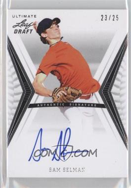 2012 Leaf Ultimate Draft - Base Autographs - Silver #BA-SS1 - Sam Selman /25