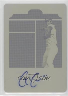 2012 Leaf Ultimate Draft - Draft Day - Printing Plate Yellow #DD-GC1 - Gavin Cecchini /1