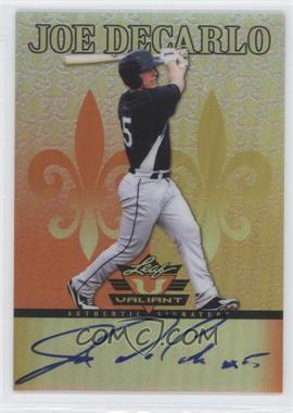 2012 Leaf Valiant - [Base] - Orange #VA-JDC - Joe DeCarlo /99