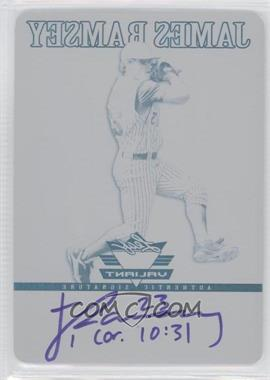 2012 Leaf Valiant - [Base] - Printing Plate Black #VA-JR1 - James Ramsey /1