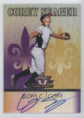 2012 Leaf Valiant - [Base] - Purple #VA-CS1 - Corey Seager /25