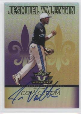 2012 Leaf Valiant - [Base] - Purple #VA-JV1 - Jesmuel Valentin /25