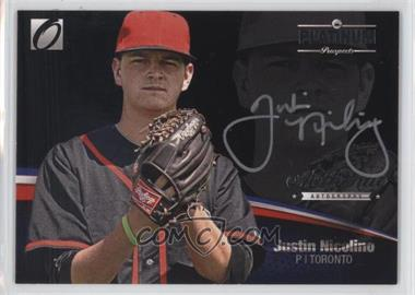 2012 Onyx Platinum Prospects - Autographs - Silver Ink #PPA11 - Justin Nicolino /135