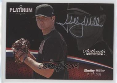 2012 Onyx Platinum Prospects - Autographs - Silver Ink #PPA29 - Shelby Miller /120