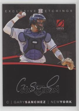2012 Onyx Platinum Prospects - Exclusive Etchings - Gold Ink #EE4 - Gary Sanchez /100