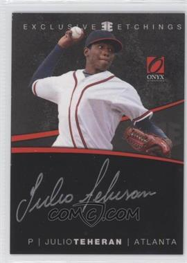 2012 Onyx Platinum Prospects - Exclusive Etchings - Gold Ink #EE7 - Julio Teheran /125