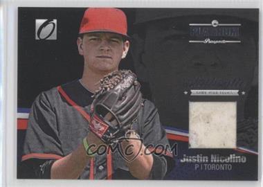 2012 Onyx Platinum Prospects - Game-Used Materials #PPGU14 - Justin Nicolino /100