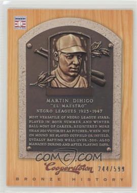 2012 Panini Cooperstown - Bronze History #28 - Martin Dihigo /599