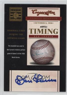 2012 Panini Cooperstown - Famous Moments - Signatures [Autographed] #1 - Don Larsen