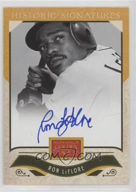 2012 Panini Golden Age - Historic Signatures #RL - Ron LeFlore