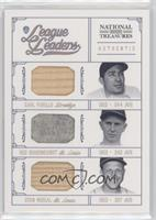 Carl Furillo, Red Schoendienst, Stan Musial #/25