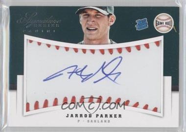 2012 Panini Signature Series - [Base] - Rated Rookie Signatures Game Ball #120 - Jarrod Parker /299
