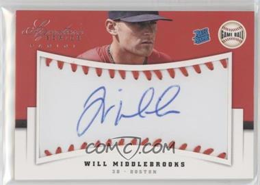 2012 Panini Signature Series - [Base] - Rated Rookie Signatures Game Ball #128 - Will Middlebrooks /299