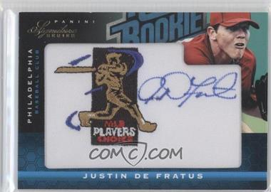 2012 Panini Signature Series - [Base] - Rated Rookie Signatures MLBPA Patch #129 - Justin De Fratus /299