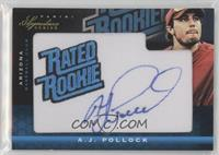 Rated Rookie Manufactured Patch Autograph - A.J. Pollock #/200