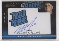 Rated Rookie Manufactured Patch Autograph - Matt Dominguez #/299