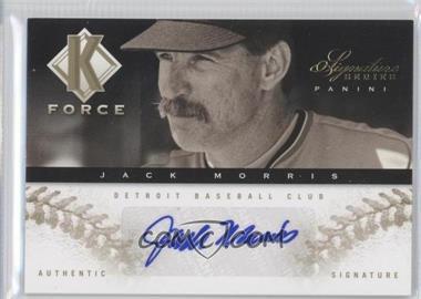 2012 Panini Signature Series - K Force - Platinum Proof #15 - Jack Morris /25