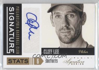 2012 Panini Signature Series - Signature Stats #18 - Cliff Lee /25