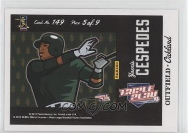 2012 Panini Triple Play - [Base] #149 - Puzzle - Yoenis Cespedes