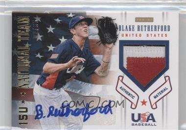 2012 Panini USA Baseball National Team - 15U National Team Patches - Signatures [Autographed] #17 - Blake Rutherford /35
