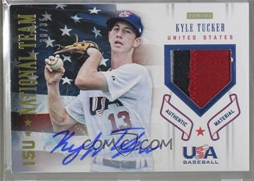 2012 Panini USA Baseball National Team - 15U National Team Patches - Signatures [Autographed] #19 - Kyle Tucker /35