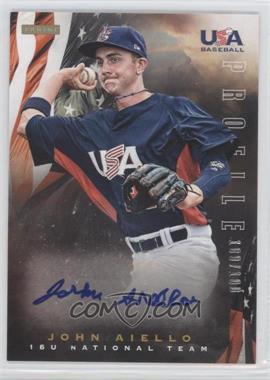 2012 Panini USA Baseball National Team - 15U National Team Profile #1 - John Aiello /100