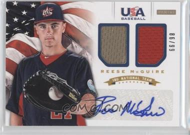 2012 Panini USA Baseball National Team - 18U National Team Dual Jerseys - Signatures [Autographed] #12 - Reese McGuire /99