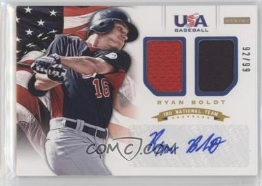 2012 Panini USA Baseball National Team - 18U National Team Dual Jerseys - Signatures [Autographed] #4 - Ryan Boldt /99