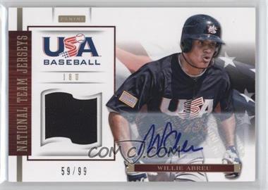 2012 Panini USA Baseball National Team - 18U National Team Jerseys - Signatures [Autographed] #1 - Willie Abreu /99