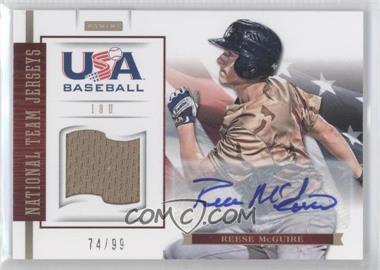 2012 Panini USA Baseball National Team - 18U National Team Jerseys - Signatures [Autographed] #12 - Reese McGuire /99