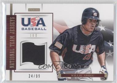 2012 Panini USA Baseball National Team - 18U National Team Jerseys #1 - Willie Abreu /99