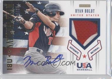 2012 Panini USA Baseball National Team - 18U National Team Patches - Signatures [Autographed] #4 - Ryan Boldt /35