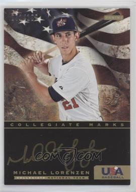 2012 Panini USA Baseball National Team - Collegiate National Team Collegiate Marks #13 - Michael Lorenzen /100