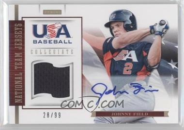 2012 Panini USA Baseball National Team - Collegiate National Team Jerseys - Signatures [Autographed] #8 - Johnny Field /99