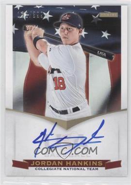 2012 Panini USA Baseball National Team - Collegiate National Team Signatures #12 - Jordan Hankins /399