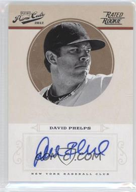 2012 Playoff Prime Cuts - [Base] #60 - Rookie Signature - David Phelps /149