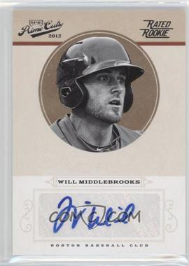 2012 Playoff Prime Cuts - [Base] #99 - Rookie Signature - Will Middlebrooks /149