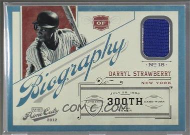 2012 Playoff Prime Cuts - Biography #5 - Darryl Strawberry /25