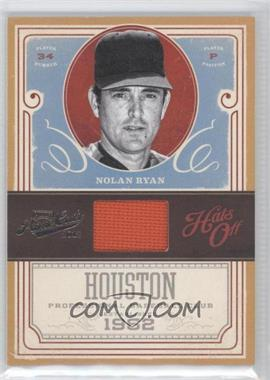 2012 Playoff Prime Cuts - Hats Off #5 - Nolan Ryan /99