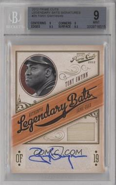 2012 Playoff Prime Cuts - Legendary Bats - Signatures [Autographed] #25 - Tony Gwynn /49 [BGS 9 MINT]