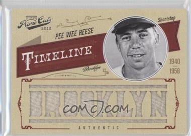 2012 Playoff Prime Cuts - Timeline - Custom City Materials [Memorabilia] #39 - Pee Wee Reese /25