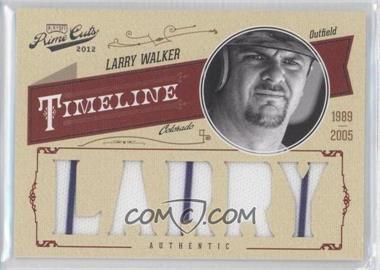 2012 Playoff Prime Cuts - Timeline - Custom Name Materials [Memorabilia] #30 - Larry Walker /25