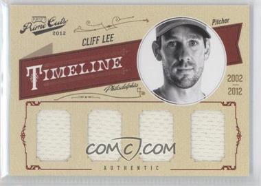 2012 Playoff Prime Cuts - Timeline - Quad Materials [Memorabilia] #11 - Cliff Lee /15