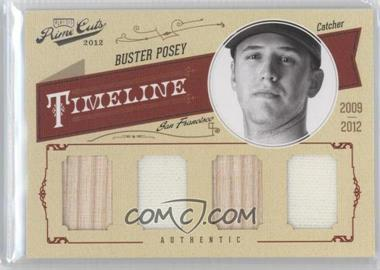 2012 Playoff Prime Cuts - Timeline - Quad Materials [Memorabilia] #7 - Buster Posey /25