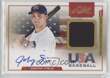 2012 Playoff Prime Cuts - USA Collegiate National Team Jersey Signatures #8 - Johnny Field /199