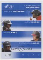Xander Bogaerts, Alen Hanson, Javier Baez, Francisco Lindor /25