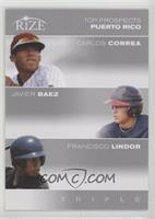 Carlos Correa, Javier Baez, Francisco Lindor