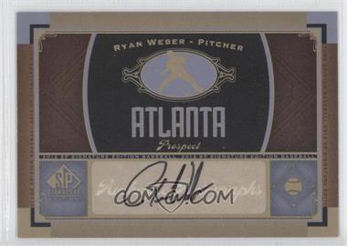 2012 SP Signature Collection - [Base] - [Autographed] #ATL 7 - Ryan Weber