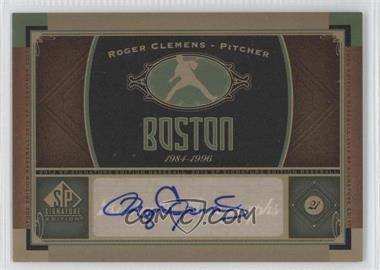 2012 SP Signature Collection - [Base] - [Autographed] #BOS 10 - Roger Clemens